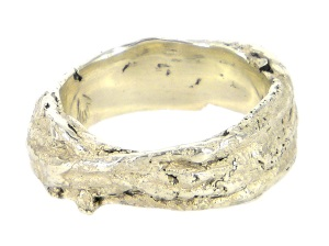 ALA046a, ali alexander, string wedding ring in white gold