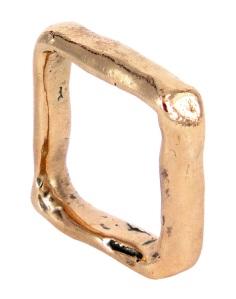 ALA048, ali alexander, square wedding ring in rose gold