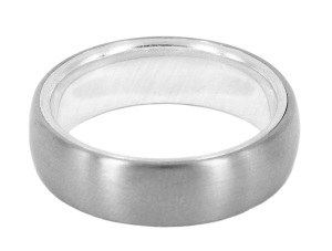 DAP030a, david parker, insert wedding band in titanium and 9ct white gold