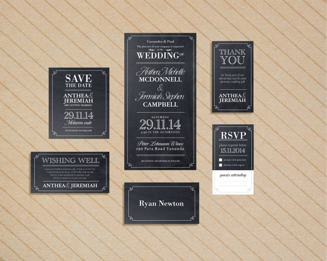 Chalkboard Wedding Invitation