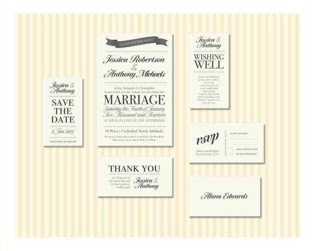 Script Wedding Invitation