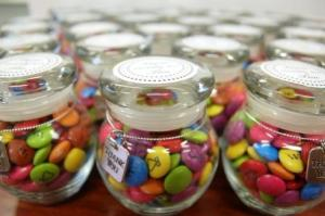 smarties in jar