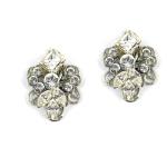 E1021 Paula Hall Designs Crystal Floral Stud $69.95 RRP