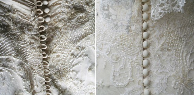 image 1 wedding dress b4 repair