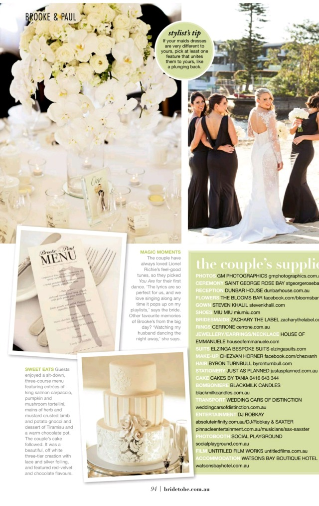 Featured in Bride to Be Magazine