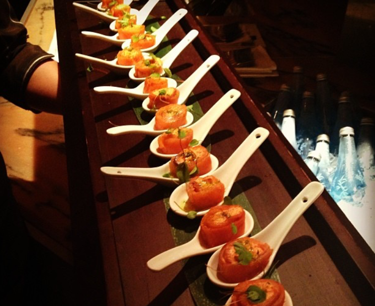 Wedding reception just as planned for Wedding canape alternatives