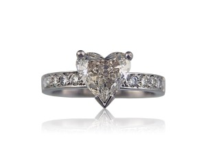 From Diamond Design Studio - Evonne heart shape diamond engagement ring Image from DDS website