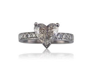 From Diamond Design Studio - Evonne heart shape diamond engagement ring Image from DDS website