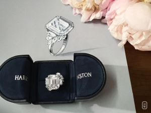 Harry Winston - 27 carat custom designed engagement ring Image from Pinterest