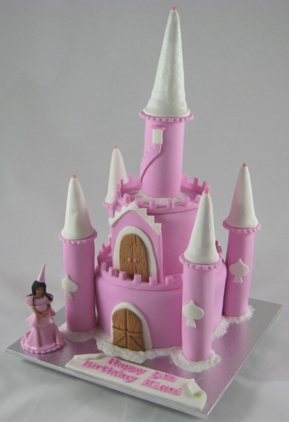Cake sisters - pink princess castle birthday cake