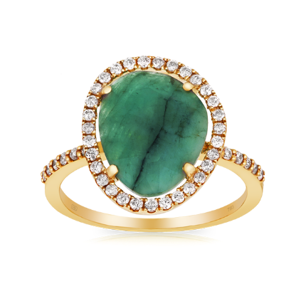 Hardy Brothers Yellow Gold and Emerald Ring