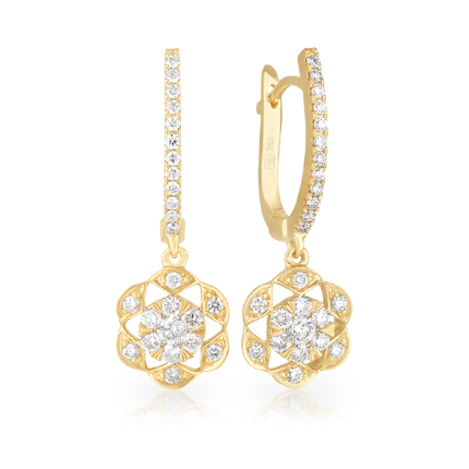 Hardy Brothers Yellow Gold Earrings